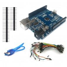Arduino UNO R3 Yeni Versiyon Set + Jumper + USB Kablo + Pin