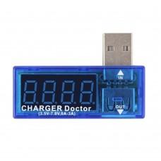 USB Şarj Ölçer Şarj Doktoru Voltmetre Ampermetre Şarj Metre