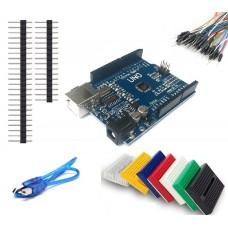 Arduino UNO R3 Yeni Versiyon + Breadboard + Jumper + USB Kablo