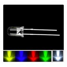 5mm Mantar LED Seti 10Adet -Kırmızı Sarı Yeşil Mavi Beyaz Arduino