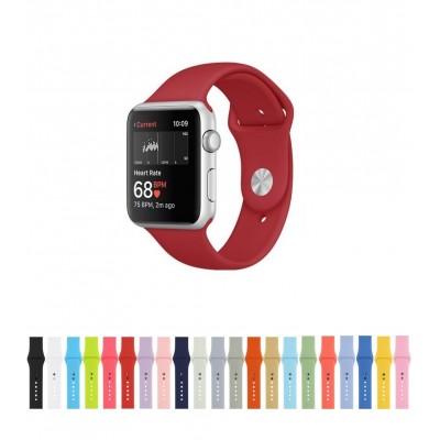 Apple Watch Silikon Kordon Kayış 38mm 40mm 42mm 44mm 1   2   3   4   5