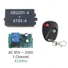 RF Uzaktan Kumandalı Röle Kartı 220V AC Self Lock Şebeke Gerilimi